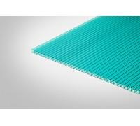 Сотовый поликарбонат КИВИ 3,70 мм 2100x6000 м бирюзовый 52%