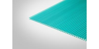 Сотовый поликарбонат КОЛИБРИ 3,70 мм 2100x6000 м бирюзовый 52%