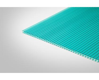 Сотовый поликарбонат КОЛИБРИ 10,0x2100x12000 бирюзовый 52%