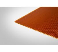 Сотовый поликарбонат Полигаль 6,0 мм 2100x12000 м янтарный 25% ГОСТ